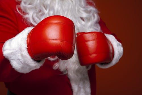Père Noêl gants de boxe